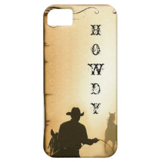 phone protector case=HOWDY=Western Roping Cowboy iPhone SE/5/5s Case