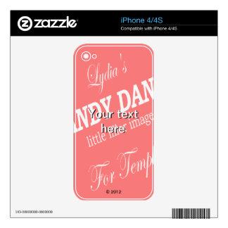 Phone Skin Template Keep iPhone 4S Decal