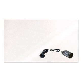 Phone tin can business card