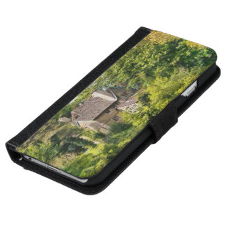 Phone wallet case  - House in the woods