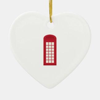 Phonebooth_base Adorno De Cerámica En Forma De Corazón
