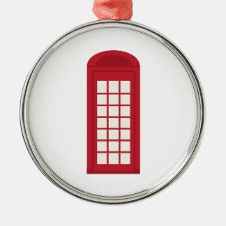 Phonebooth_base Adorno Redondo Plateado