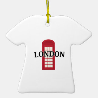 Phonebooth_London Adorno De Cerámica En Forma De Playera