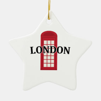 Phonebooth_London Adorno De Cerámica En Forma De Estrella