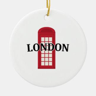 Phonebooth_London Adorno Redondo De Cerámica