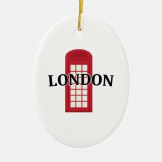 Phonebooth_London Adorno Ovalado De Cerámica