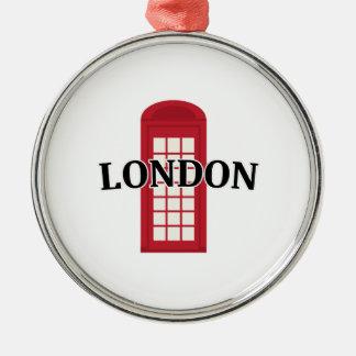 Phonebooth_London Adorno Redondo Plateado