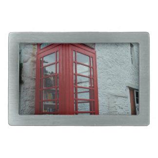 Phonebox Book Exchange Rectangular Belt Buckles