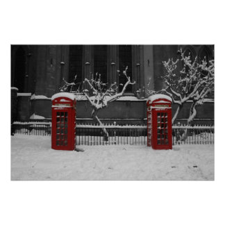Phoneboxes in the snow print