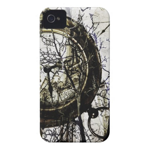 phonecase fantasmagórico del reloj y de las ramas Case-Mate iPhone 4 protectores