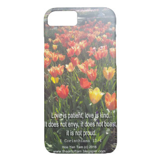 Phonecase - Tulips photo with Bible Verse iPhone 8/7 Case
