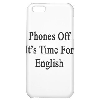 Phones Off It's Time For English iPhone 5C Case