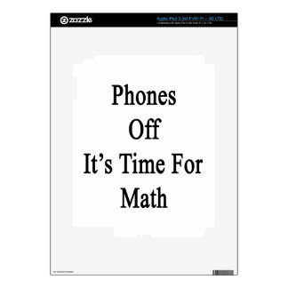Phones Off It's Time For Math Decal For iPad 3