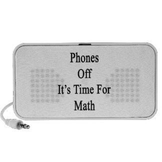 Phones Off It's Time For Math Travel Speaker