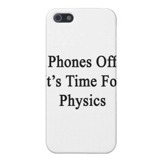 Phones Off It's Time For Physics iPhone 5 Cover