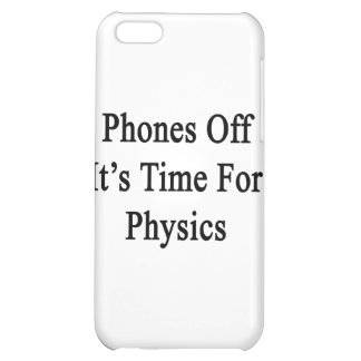 Phones Off It's Time For Physics iPhone 5C Covers