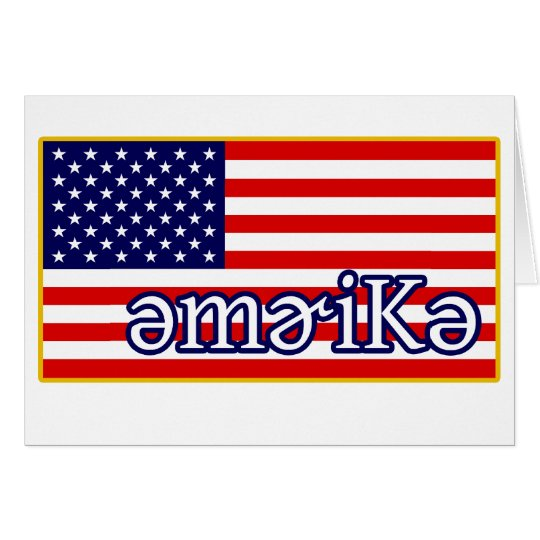 Phonetic America Card