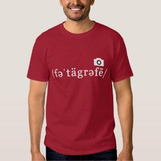 Phonetic Photography (Maroon T-shirt Customisable)