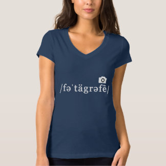 Phonetic Photography (Navy T-shirt, Customisable) T-Shirt
