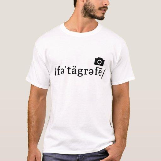 Phonetic Photography (White T-shirt, Customisable) T-Shirt