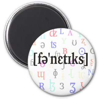 Phonetics in IPA. Black on characters background. Fridge Magnet