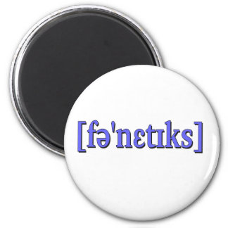 Phonetics in IPA. Blue Refrigerator Magnets