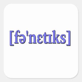 Phonetics in IPA. Blue Square Sticker