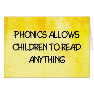 Phonics Card
