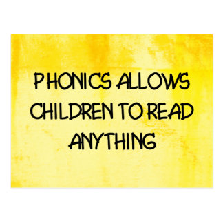 Phonics Postcard