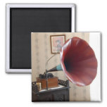 phonograph 2 inch square magnet