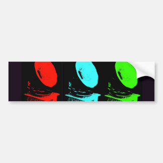 Phonograph Collage Car Bumper Sticker