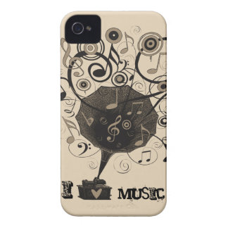 Phonograph Music Love BlackBerry Barely There Case iPhone 4 Cases