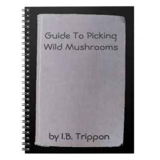 Phony book, funny author  no.3 Mushrooms Spiral Note Books