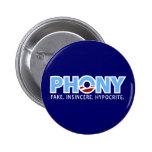 Phony Obama 2 Inch Round Button