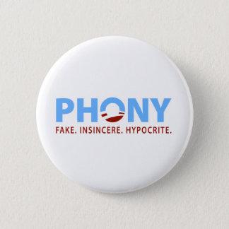 Phony Obama Pinback Button