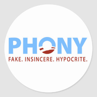 Phony Obama Classic Round Sticker