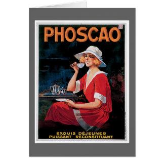 Phoscao Vintage Chocolate Drink Ad Art Card