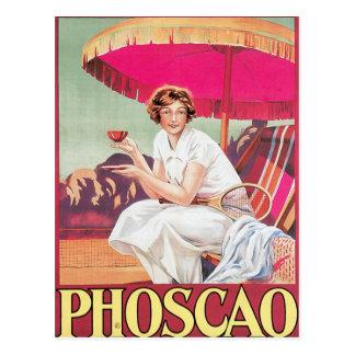 Phoscao Vintage Chocolate Drink Ad Art Postcard