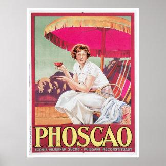 Phoscao Vintage Chocolate Drink Ad Art Poster