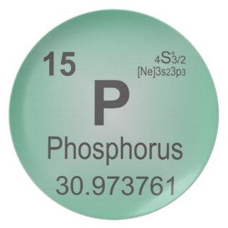 Phosphorus Individual Element - Periodic Table Melamine Plate