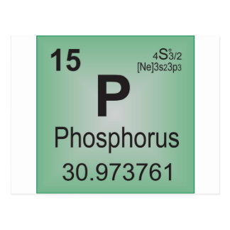 Phosphorus Individual Element - Periodic Table Postcard