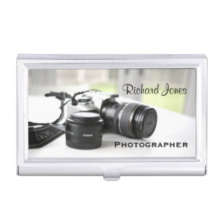 Photagraphy Photographer Camera Lens Business Card Case