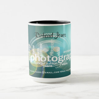Photagraphy Typography Bokeh Photographer Mug