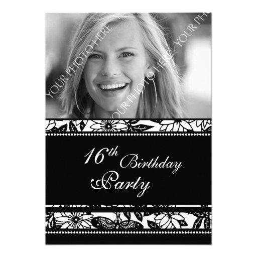 Photo 16th Birthday Party Invitations