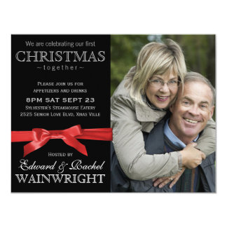 Photo 1st Christmas Together Celebration Card