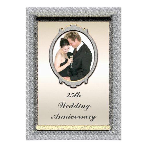 Photo 25th Wedding Anniversary Party Invitation | Zazzle