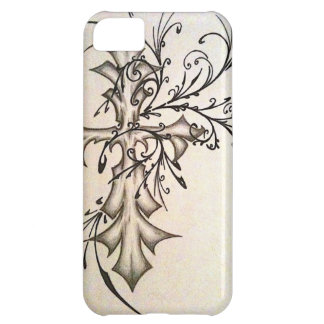 photo-39 JPG cross with floral style iPhone 5C Case