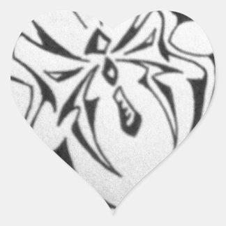 photo-40.JPG tribal butterfly Heart Sticker