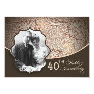 photo 40th anniversary invitations