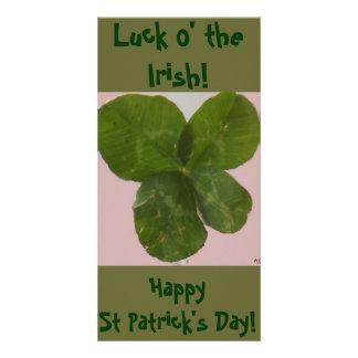 Photo: 4 Leaf Clover- Lucky Shamrock Card